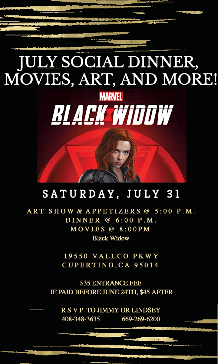 Dinner & Entertainment in Cupertino - Movies, Art, Wine, and More! image