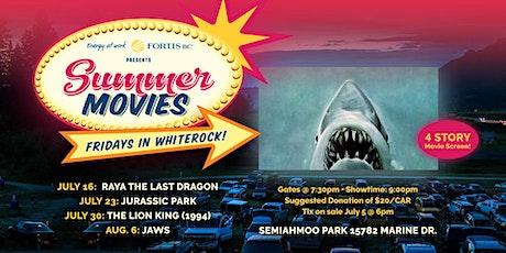 FortisBC Presents Summer Movies: Jurassic Park (July 23) tickets