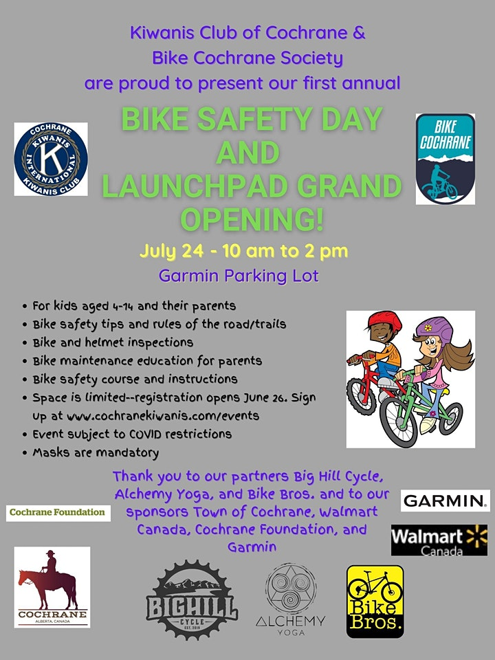 Bike Safety Day & Launch Pad Grand Opening image