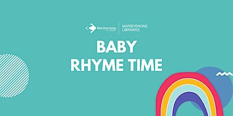 Baby Rhyme Time at Maribyrnong Library tickets