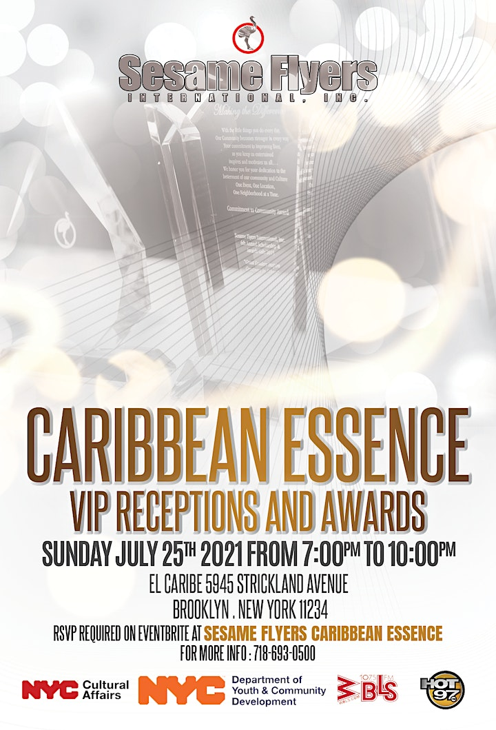Sesame Flyers Caribbean Essence Awards and Showcase - Invited Guests Only image