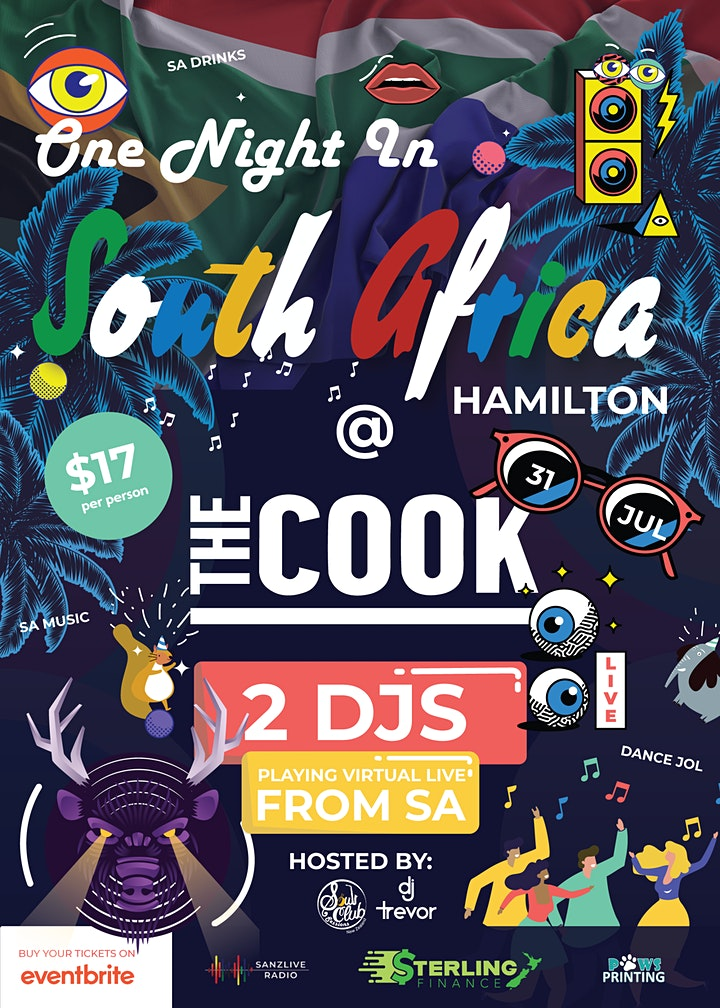 One Night in South Africa Hamilton @ The Cook image