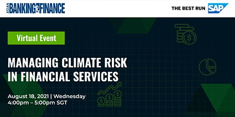 Managing Climate Risk in Financial Services tickets