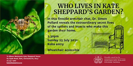 Fireside chat: Who lives in Kate Sheppard's garden? tickets