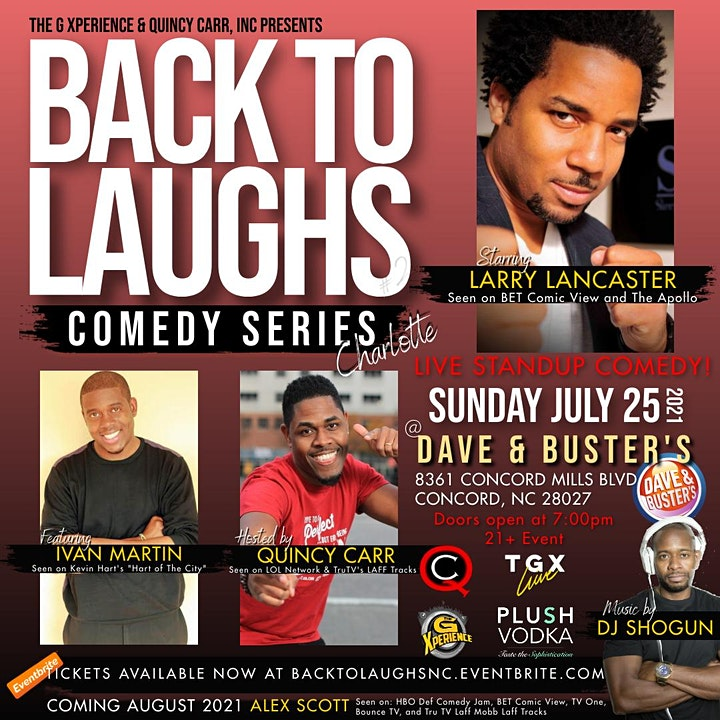 Back To Laughs Comedy Series | Charlotte Edition image