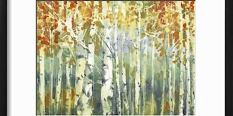 Birch trees - watercolor painting workshop tickets