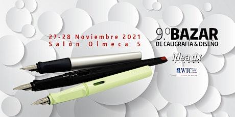 9o Bazar de Caligrafía y Diseño-2021 boletos
