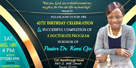 Pastor Kemi Ojo's 40th Birthday Celebration tickets