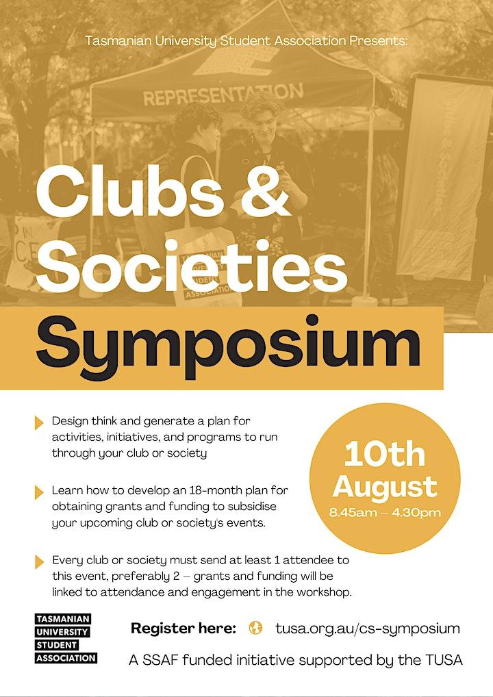 Club and Societies Symposium image