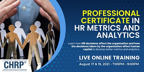 4th Professional Certificate in HR Metrics and Analytics tickets