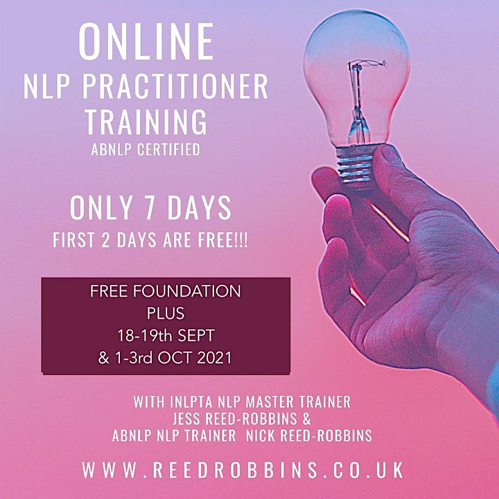 """FREE NLP Foundation Training online-  """"Intro to NLP Breakthrough Coaching"""" image"""