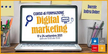 Corso formativo Digital Marketing biglietti