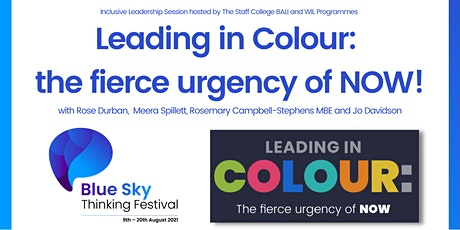 Leading in Colour:  the fierce urgency of NOW! tickets