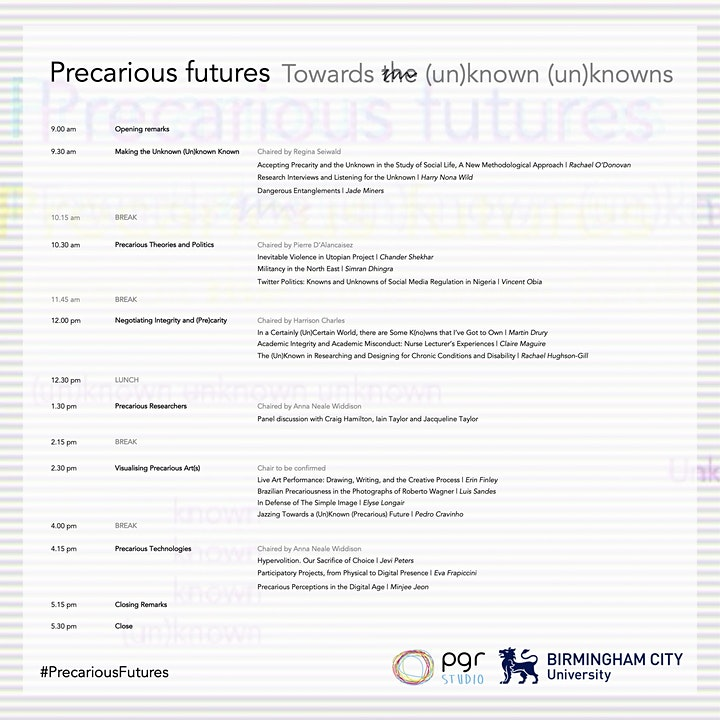 Precarious Futures: Towards the (un)known (un)knowns image