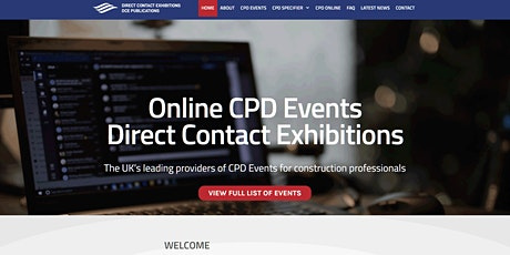Online CPD - Building, Maintenance & Construction tickets