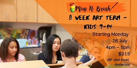 9-14 years art term program tickets