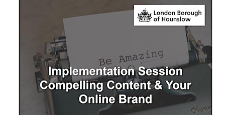 How To Position Your Brand Online And Create Compelling Content tickets