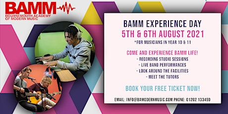 BAMM Experience Day (Year 10 & 11s) tickets