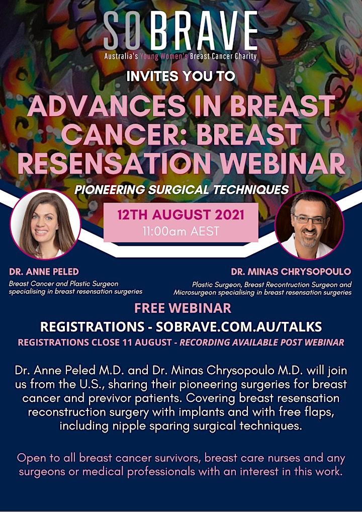 So Brave presents: Advances in Breast Cancer- Breast Resensation Surgeries image