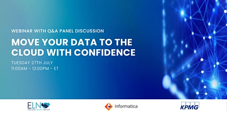 Webinar: Move Your Data To The Cloud With Confidence tickets