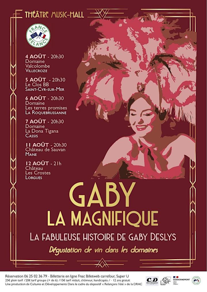 Image pour GABY LA MAGNIFIQUE, La fabuleuse histoire de Gaby Deslys