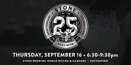 Stone 25th Anniversary Rare Beer Celebration tickets