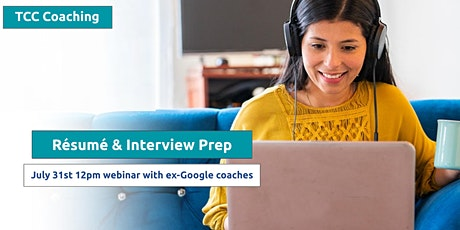 Résumé Template & Interview Prep: ex-Google & Amazon Coaches Webinar tickets