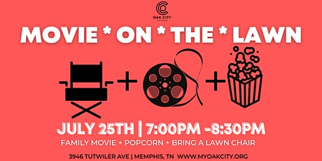 MOVIE ON THE LAWN-FREE FOOD/POPCORN tickets