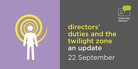 Directors' duties and the twilight zone - an update tickets