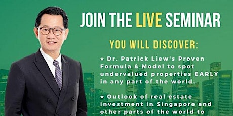 FREE ONLINE Property Investing Extensive Class by Dr Patrick Liew tickets