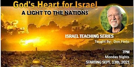 Israel Teaching Series  - Monday Nights  - Taught By:  Don Finto tickets