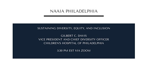 Sustaining Diversity, Equity, and Inclusion - Chief Diversity Officer CHOP tickets