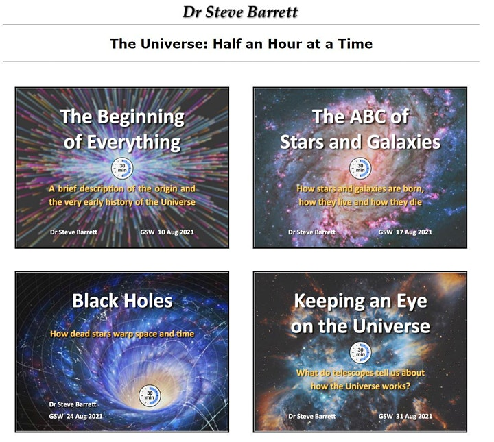 The Universe: Half an Hour at a Time by Dr Steve Barrett image
