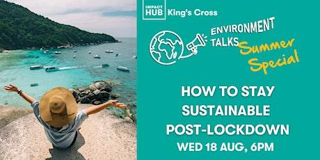 Environment Talks Pub Quiz: Staying Sustainable Post-Lockdown! tickets