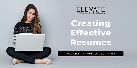 Creating Effective Resumes tickets