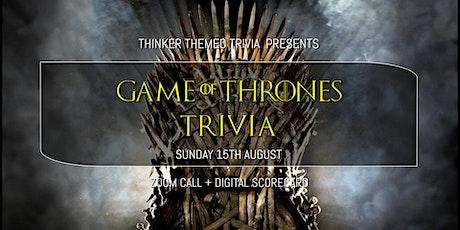 Game Of Thrones Trivia (Online) - S1-6 biglietti