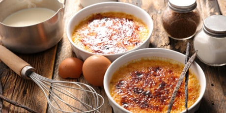 In-Person Class: Extravagant Creme Brulee with Caramel Nest & Espresso Bean tickets