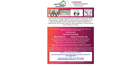 Monthly VIRTUAL Military Spouse Career Building Workshop tickets