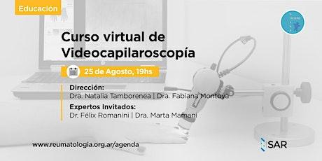 Curso Virtual de Videocapilaroscopía - 2da Ed. ONLINE entradas