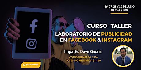 Laboratorio de Publicidad en Facebook e Instagram biglietti