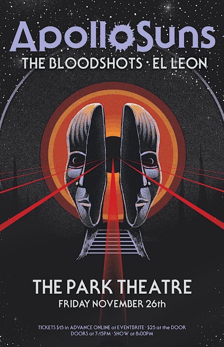 Apollo Suns live at the Park w/ The Blood Shots & El Leon image