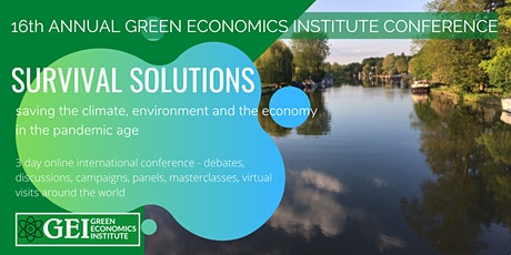 16th Annual Green Economics Conference (online September 2021) tickets
