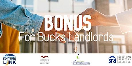 Bucks County: Bonus for Bucks Landlords tickets