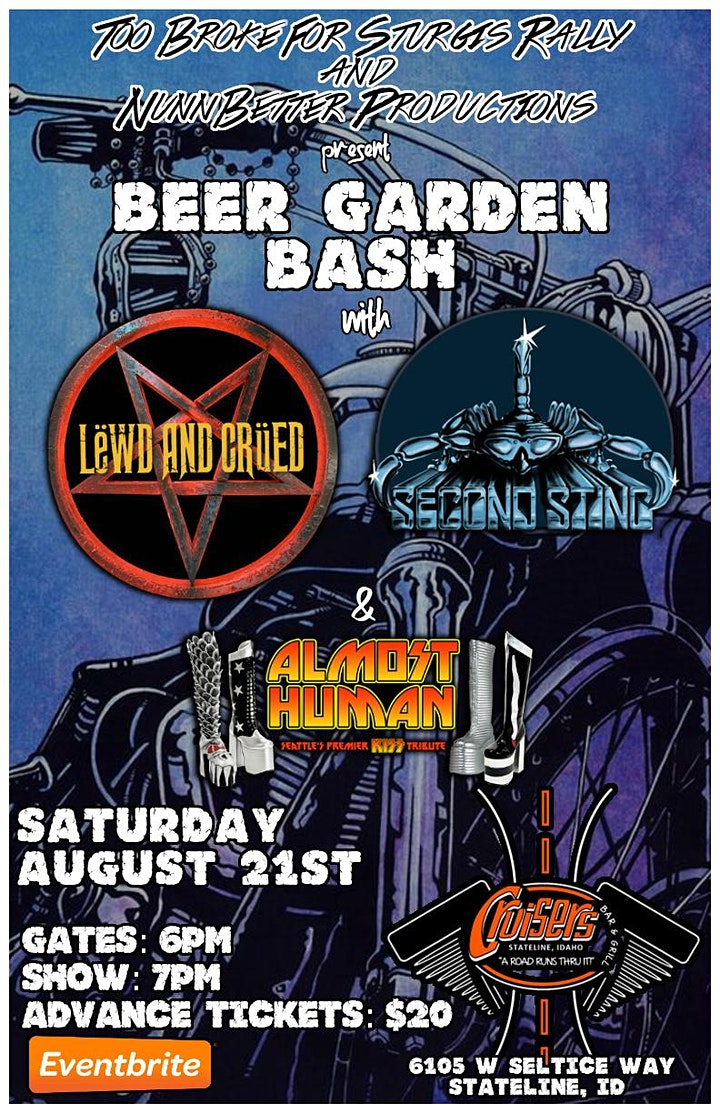 Beer Garden Bash at Cruisers with three top Seattle Tributes image