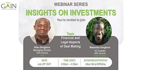 Insights on Investments.. Gambian  Investment Professionals in the Diaspora tickets