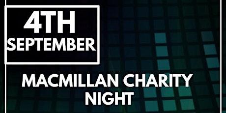Macmillan charity night Steps Bar & Club tickets