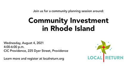 Community Investment in Rhode Island tickets