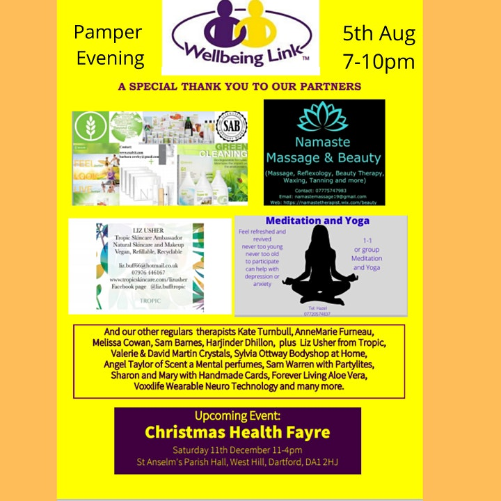 Wellbeing Link Pamper Evening and Gift Fair image