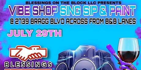 Vibe Shop Sing Sip & Paint tickets