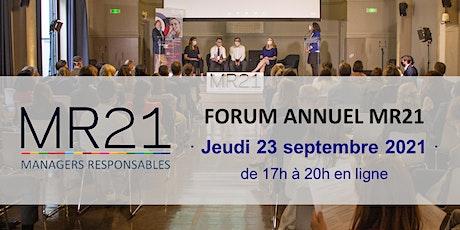 """FORUM MR21 : """"Vers un modèle d'entreprise durable européenne"""" billets"""